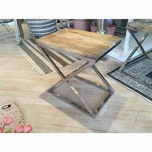Tisch Holz Metall : beistelltisch rechteckig holz metall tisch verchromt metall holzplatte h he 60 cm ~ Somuchworld.com Haus und Dekorationen