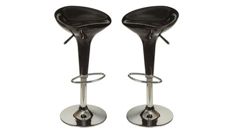 tabourets de bar design noir chaise design pas cher