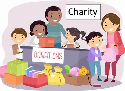 Charity Donation Clipart Charities Works Helping Each