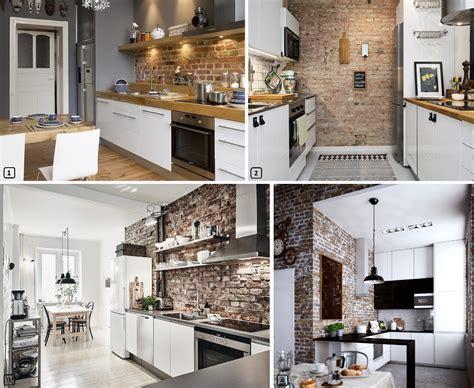 cuisine avec brique mur en briques rouges l 39 atout déco bnbstaging le