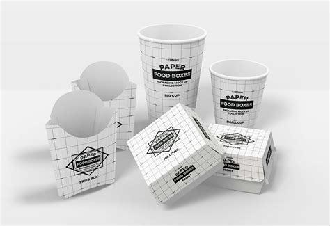 Logo printed on fabric mockup. Fast Food Branding and Packaging Mockup (PSD)