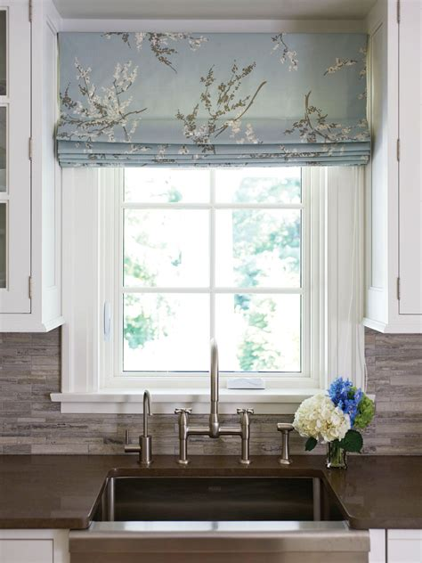 Kitchen Blinds And Shades by Like The Idea Of Using A Printed Fabric For The Blinds To
