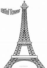 Eiffel Tower Coloring Paris Printable Mandala Drawing Monuments Sheets Clip Templates Silhouette Towers Building Historical sketch template