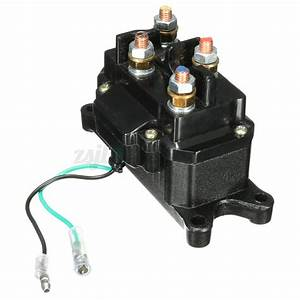 12v Solenoid Relay Contactor  Winch Rocker Thumb Switch Wiring Combo For Atv Utv