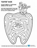 Coloring Dental Pages Health Teeth Printable Dentist Google Hygiene Tooth Maze Care Printables Activities Healthy Preschool Christmas Month Brushing Bucal sketch template
