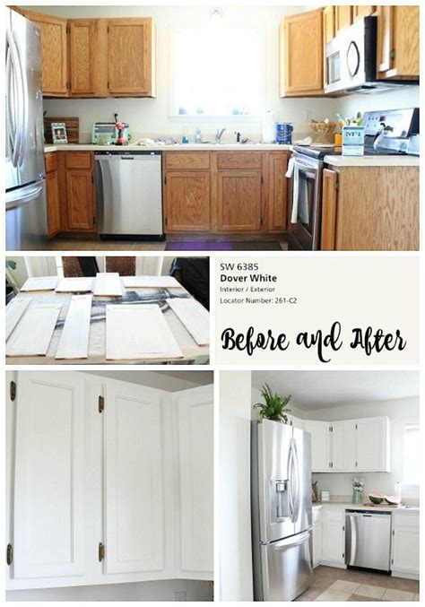 painted kitchen cabinets white dover white kitchen cabinets refresh restyle 3990
