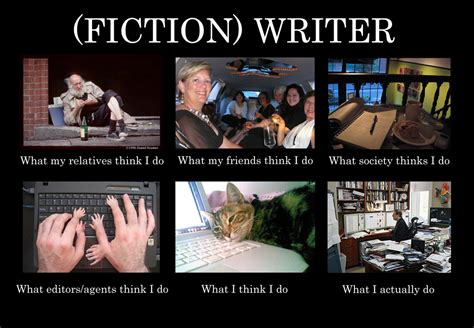 Meme Writer - what people think writers do 80 000 words