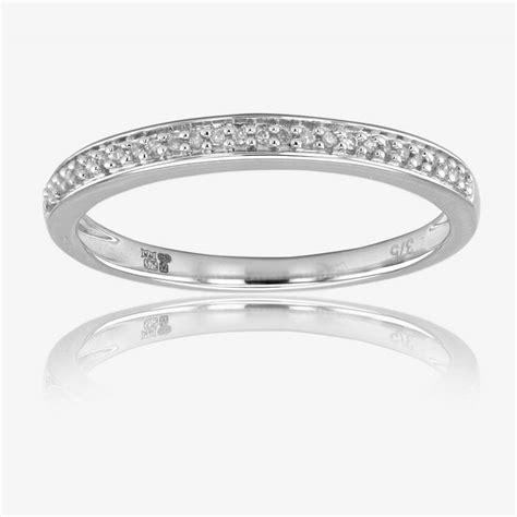 9ct white gold cluster bridal 2 ring