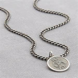 wedding anniversary gifts for him personalised sterling silver st christopher necklace hurleyburley