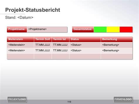 projekt statusbericht  powerpoint projektmanagement