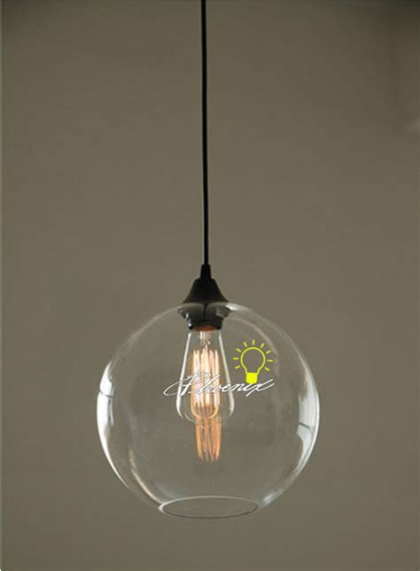 modern simple orb clear glass pendant lighting