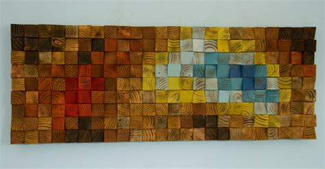 wood wall art reclaimed wood art quot the northern lights
