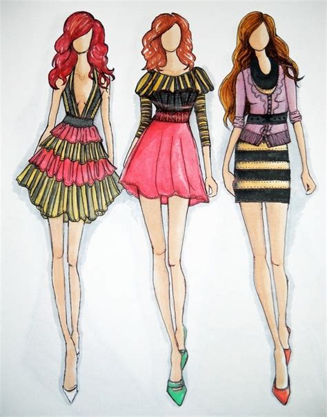 fashion design sketches glamorous fashion sketches and illustrations best 50