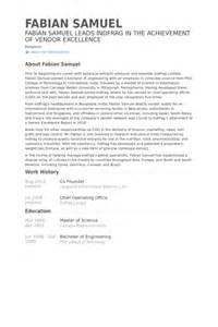 co founder resume sle 7 co founder cv exle visualcv resume sles database