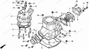 Honda Atv 1989 Oem Parts Diagram For Cylinder Head