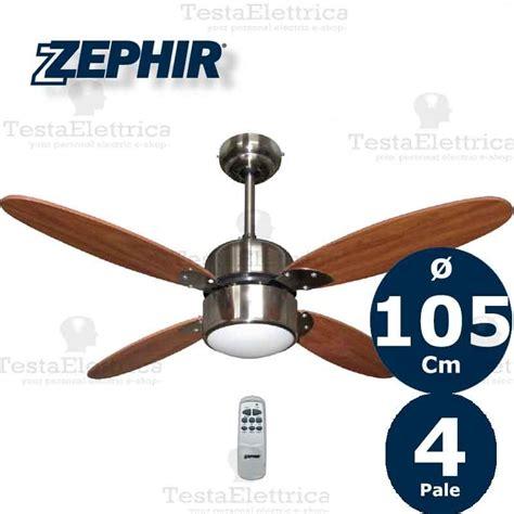 Ventilatori Da Soffitto Con Luce by Zfs4107m Zephir Ventilatore Legno Color Noce Da Soffitto