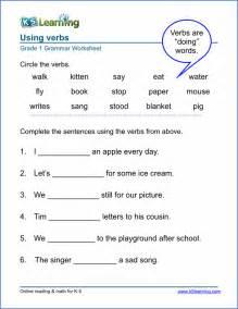 verb sheet verb worksheets for elementary school printable free k5 learning