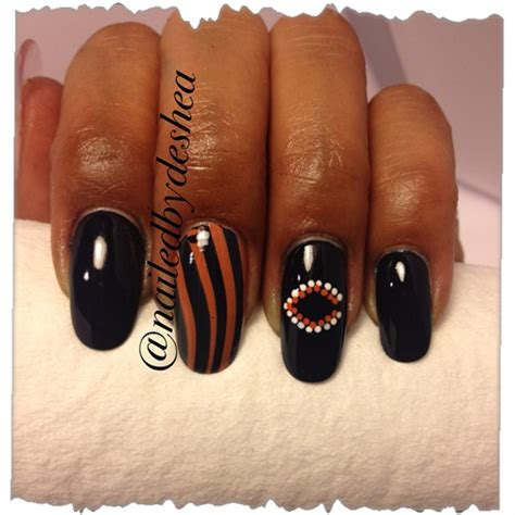 chicago bears nail art gallery