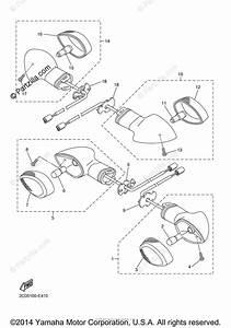 Yamaha Motorcycle 2007 Oem Parts Diagram For Flasher Light