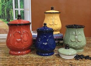 fleur de lis canisters for the kitchen fleur de lis canisters set of 4 ceramic dishes tuscany lid