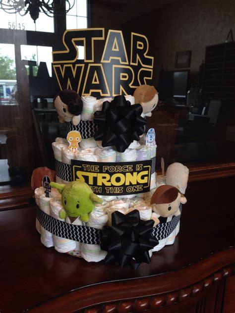 star wars diaper cake star wars baby shower baby shower