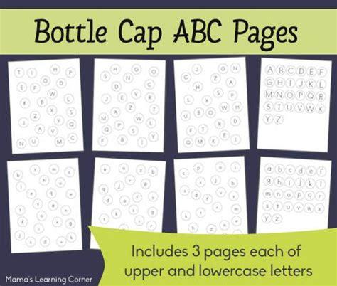 Bottle Cap Abc Matching Pages  Bottle, Cap D'agde And Bottle Caps