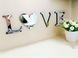 decoration love With 3d letters home decor