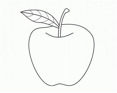 Apple Coloring Fruit Preschool Printable Colouring Sheet