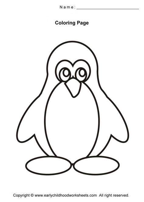 penguin coloring pages easy and simple coloring pages 186 | 0582a1ed5bba38557060cacce037d860