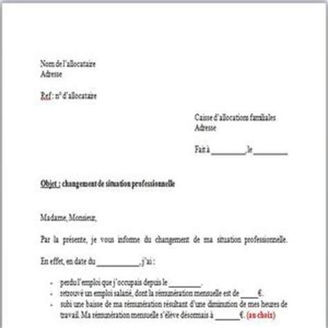modele lettre reclamation caf gratuit exemple de courrier a la caf