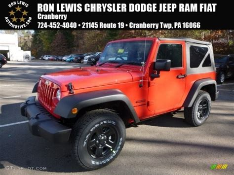 sports jeep 2017 2017 firecracker red jeep wrangler sport 4x4 116919654