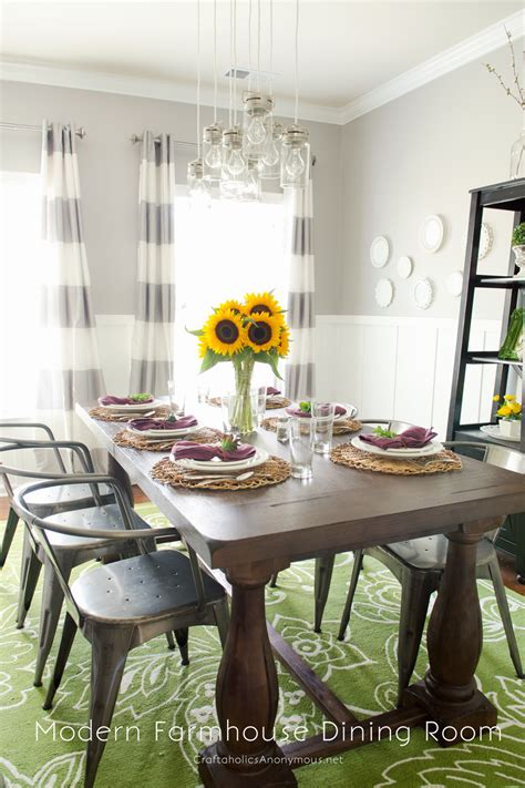 Craftaholics Anonymous®  Modern Farmhouse Fall Dining Room