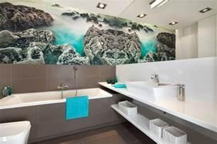 wanddeko badezimmer badezimmer ideen für kleine bäder mit fototapeten