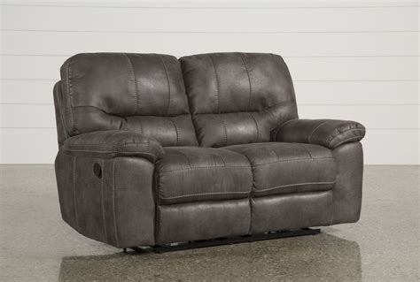 gray reclining loveseat neve grey reclining loveseat living spaces