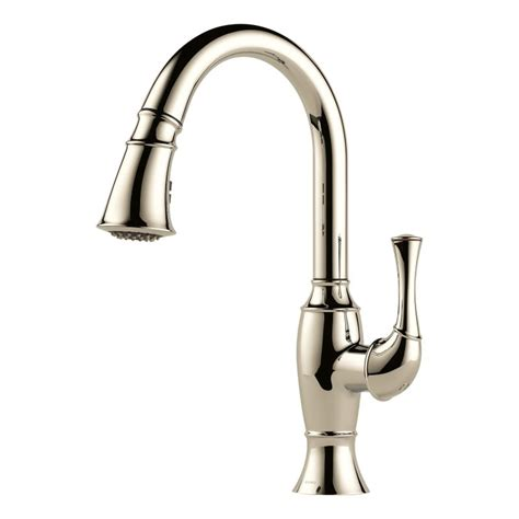 kitchen faucet nickel faucet com 63003lf pn in brilliance polished nickel by brizo