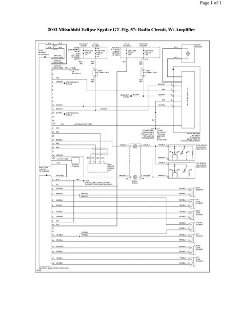 Mitsubishi Mirage Radio Wiring Diagram Book