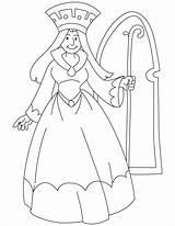 Queen Coloring Medieval Princess Scepter Drawing King Holding Printable Elsa Getdrawings Pdf Clip Template Sketch Sensational sketch template
