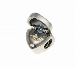 pandora silver 14ct gold heart gift box ring charm With pandora wedding rings charm