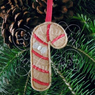 gingerbread candy cane cookie ornament christmas felt