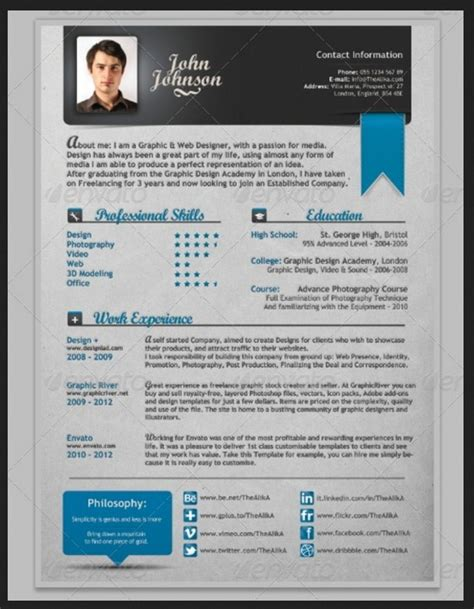 creative resume template word anuvrat info