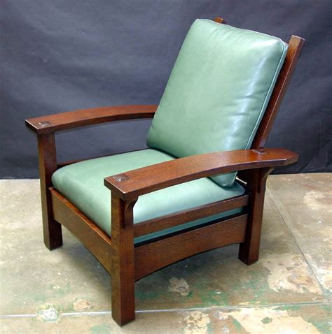 Stickley Morris Chair Reproduction by Voorhees Craftsman Mission Oak Furniture Gustav Stickley