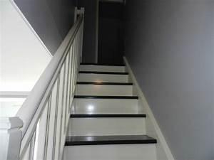 photo escalier peint With exceptional repeindre un escalier en blanc 2 escalier repeint stephanie et eleonore deco