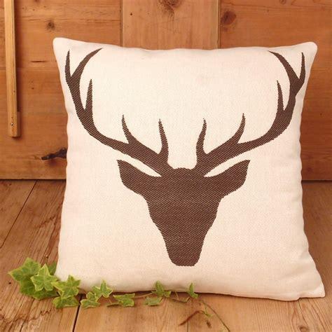 Cuscini Tirolesi federa cuscino fantasia testa di cervo marrone doubleface
