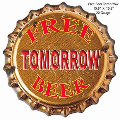 Beer Metal Tomorrow Antique Cut Bar 15x15