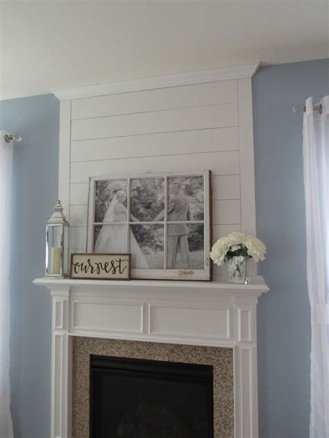 diy shiplap fireplace makeover fireplace remodel