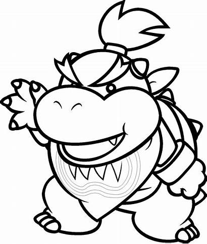 Mario Coloring Paper Pages Super Printable Getcolorings