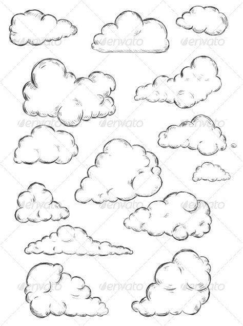 clouds sketch graphicriver sketch  heart pinterest