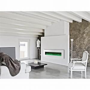 Cheminée électrique Design : cheminee electrique 182cm design luxury kamin 72 blanche ~ Dode.kayakingforconservation.com Idées de Décoration