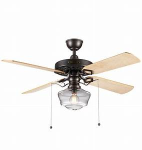 Heron ceiling fan with clear ogee shade blade