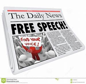 Free Speech Newspaper Headline News Media Journalism Press ...